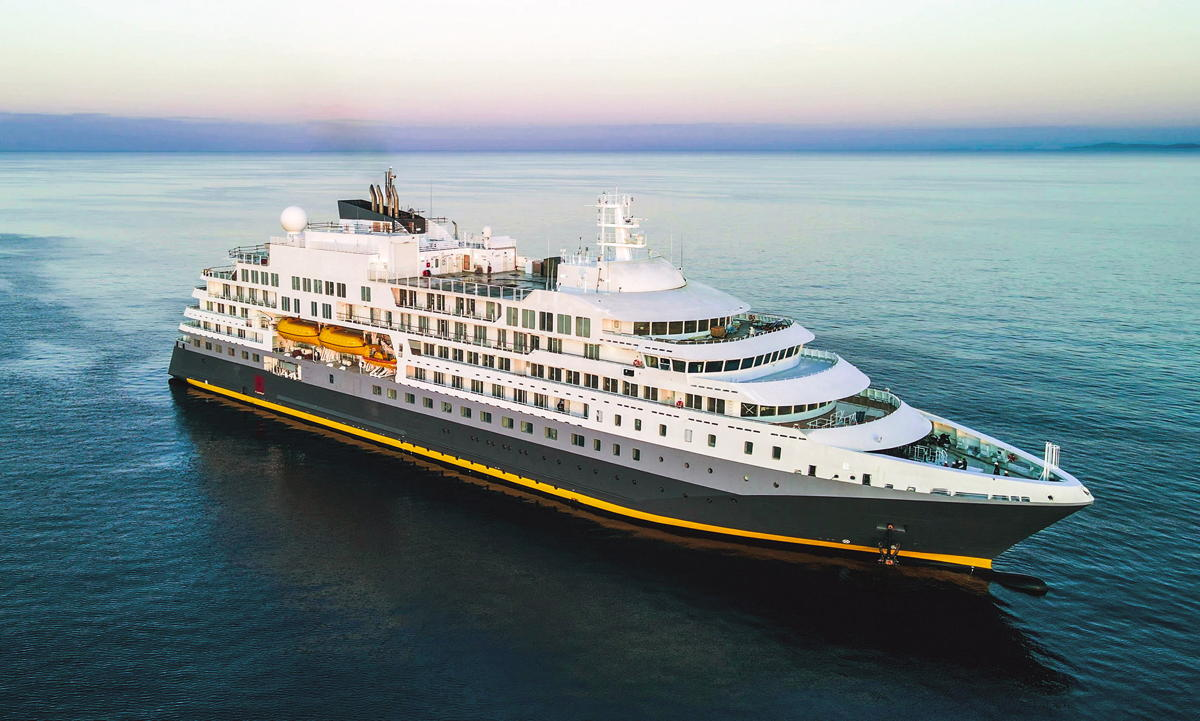 The 128-metre Ultramarine holds 199 guests. (Quark)