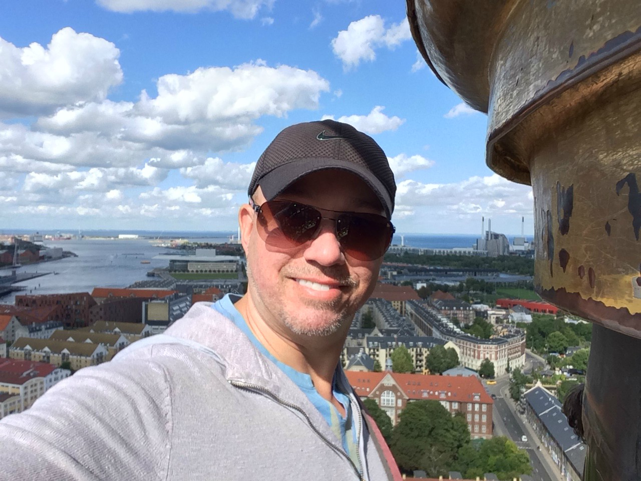 Brad says he's been fortunate enough to travel to all seven continents--impressive! Here he is in Copenhagen.
