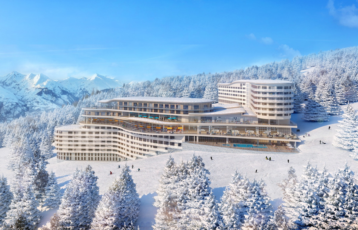 LUXURY SKI. Club Med Les Arcs Panorama opened in the French Alps last December. Photo: Club Med