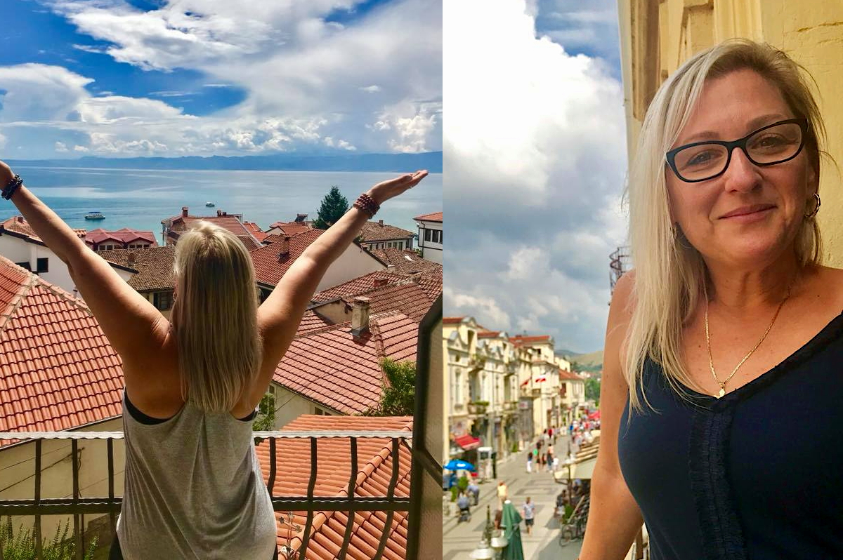 "Above, Winters travels through Macedonia: ""The most inexpensive European holiday you could ever have, without question,"" she says. Photos courtesy of Diana Winters."