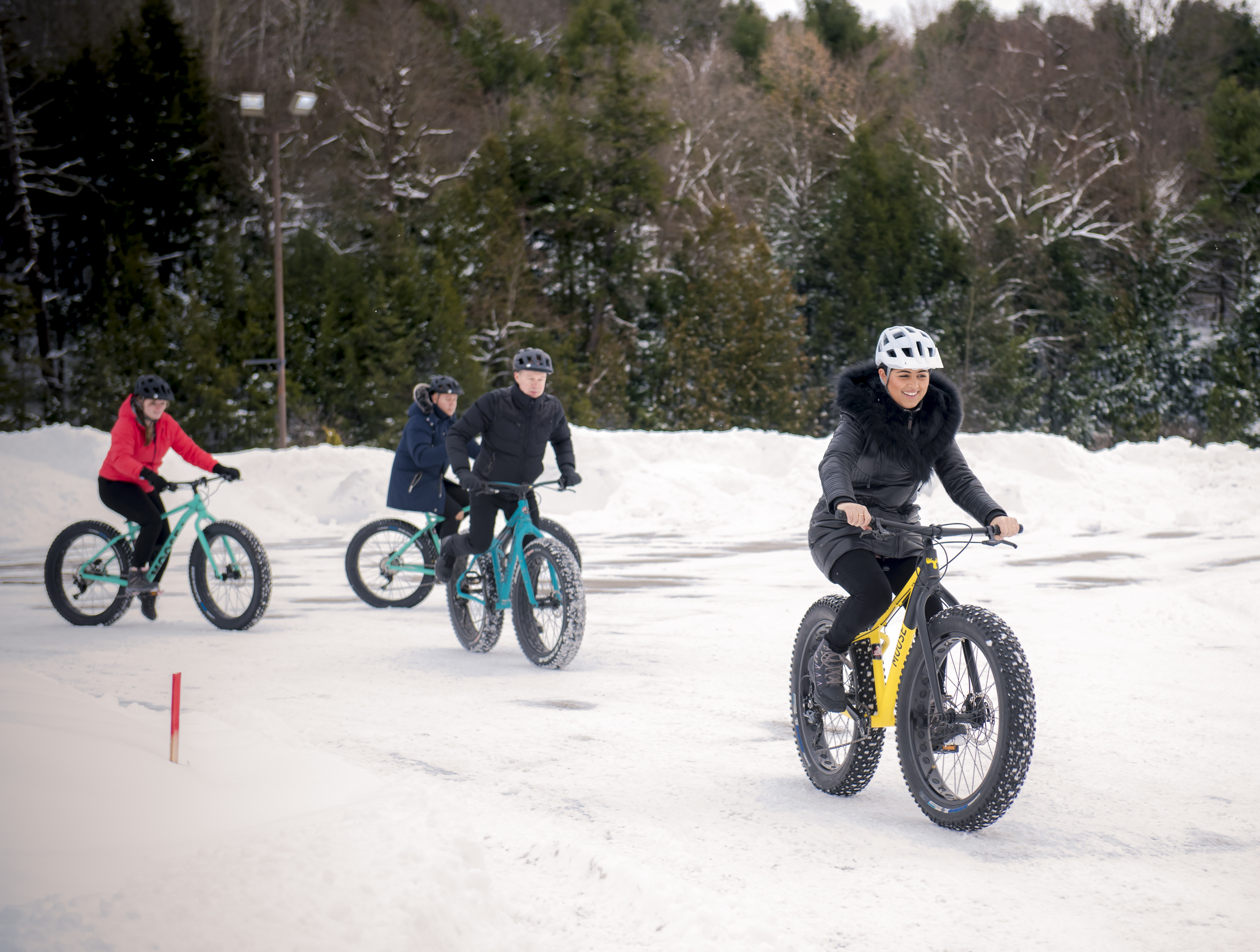 Fat biking is a fun way to explore some of Muskoka's trails in the winter time, and companies like Livoutside allow for guided or self-guided adventure.