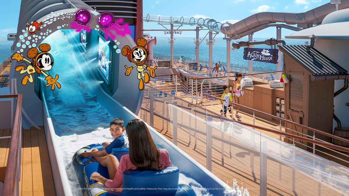 "AquaMouse promises to immerse guests into ""The Wonderful World of Mickey Mouse"" (Disney Cruise Line)"