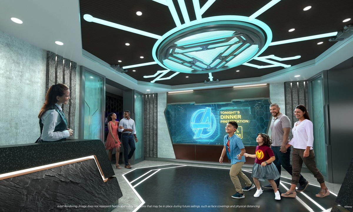 Worlds of Marvel is the first-ever Marvel cinematic dining adventure. (Disney Cruise Line)