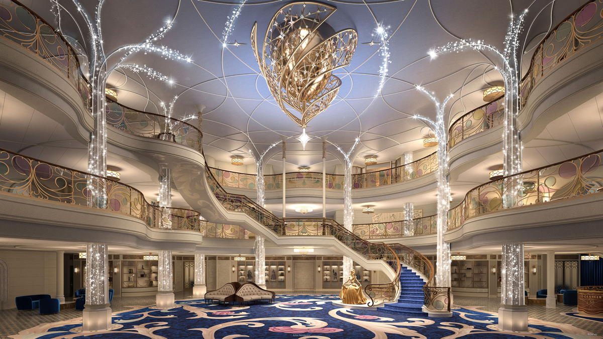 The fairytale castle-inspired Grand Hall. (Disney Cruise Line)