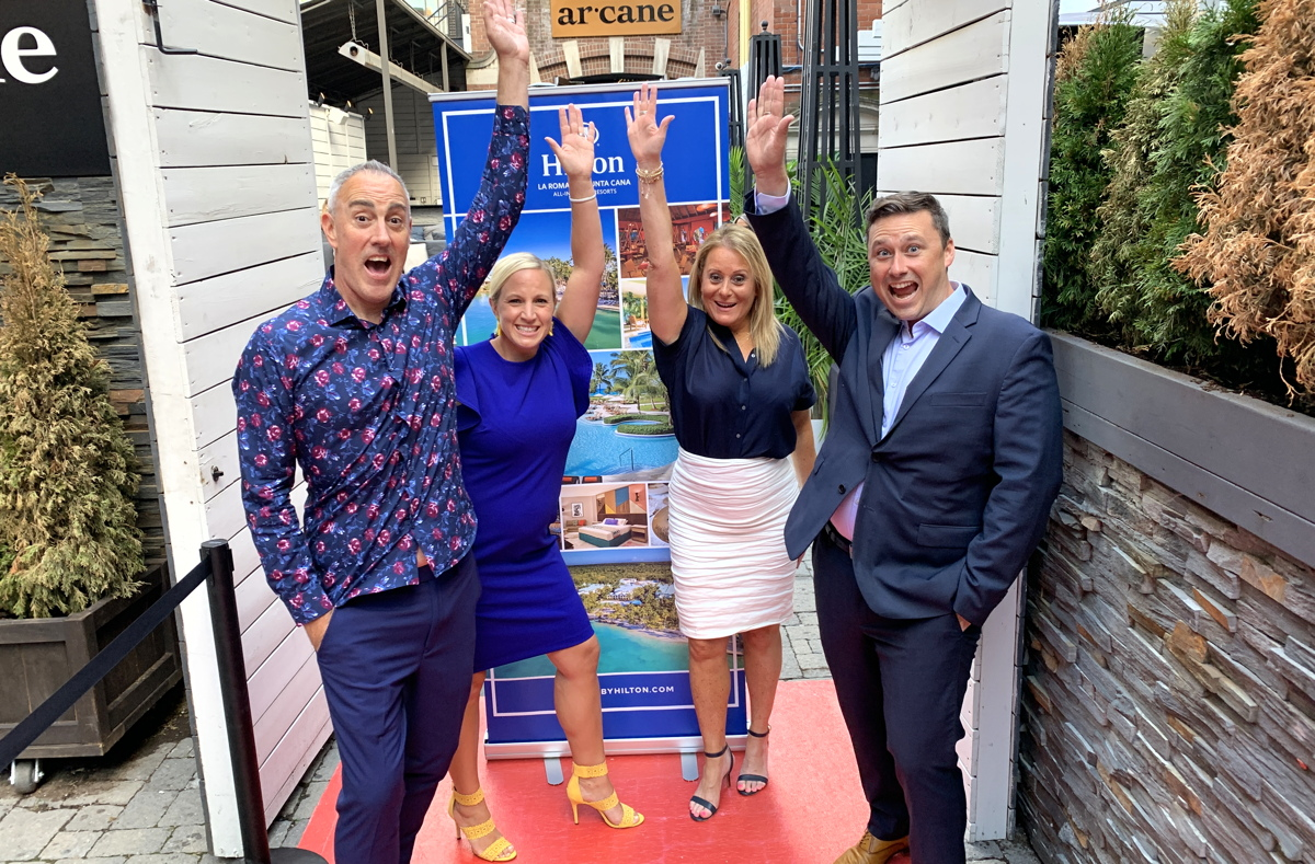 From left (of Playa Hotels and Resorts): Freddie Marsh, BDM, Western Canada; Amanda Morris, BDM, Ontario; Rose Cosentino, VP, sales, Canada; Christian Roussin, BDM, Quebec & Atlantic Canada.