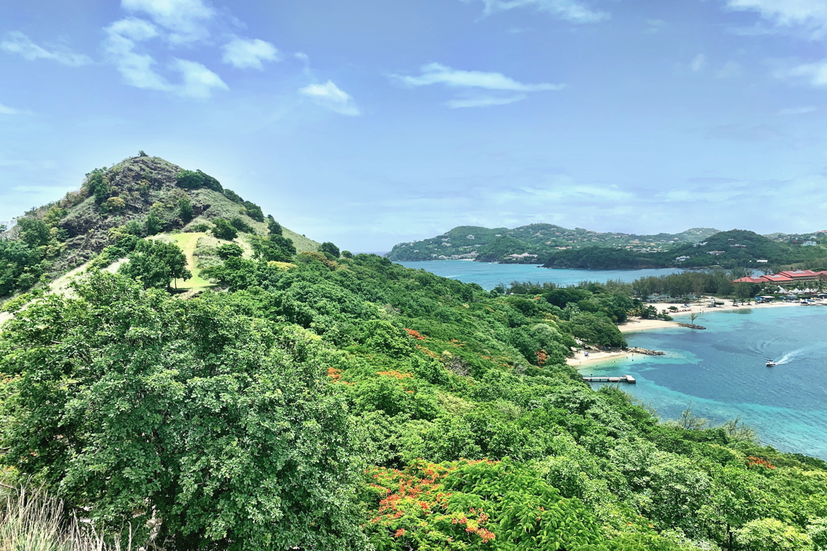 Finding the best views of Saint Lucia in Pigeon Island National Park.