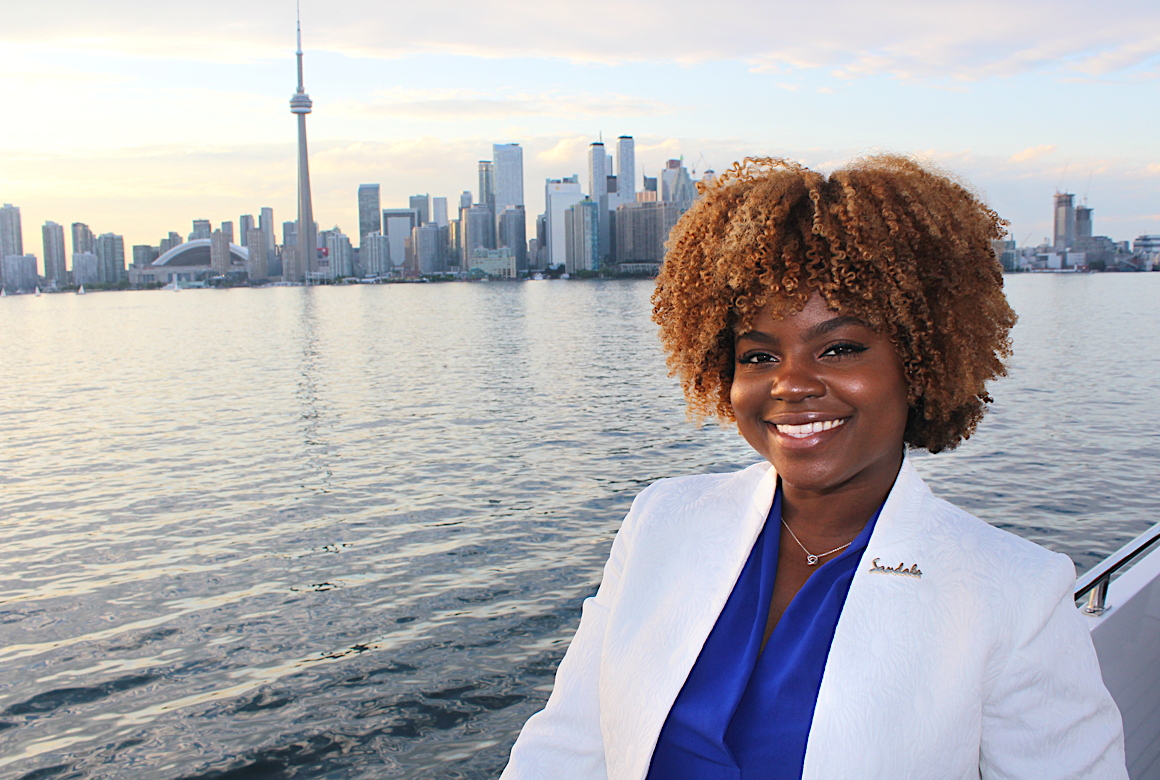"""The yacht is absolutely stunning,"" said Giselle Williams, a business development manager for Toronto and Ottawa."