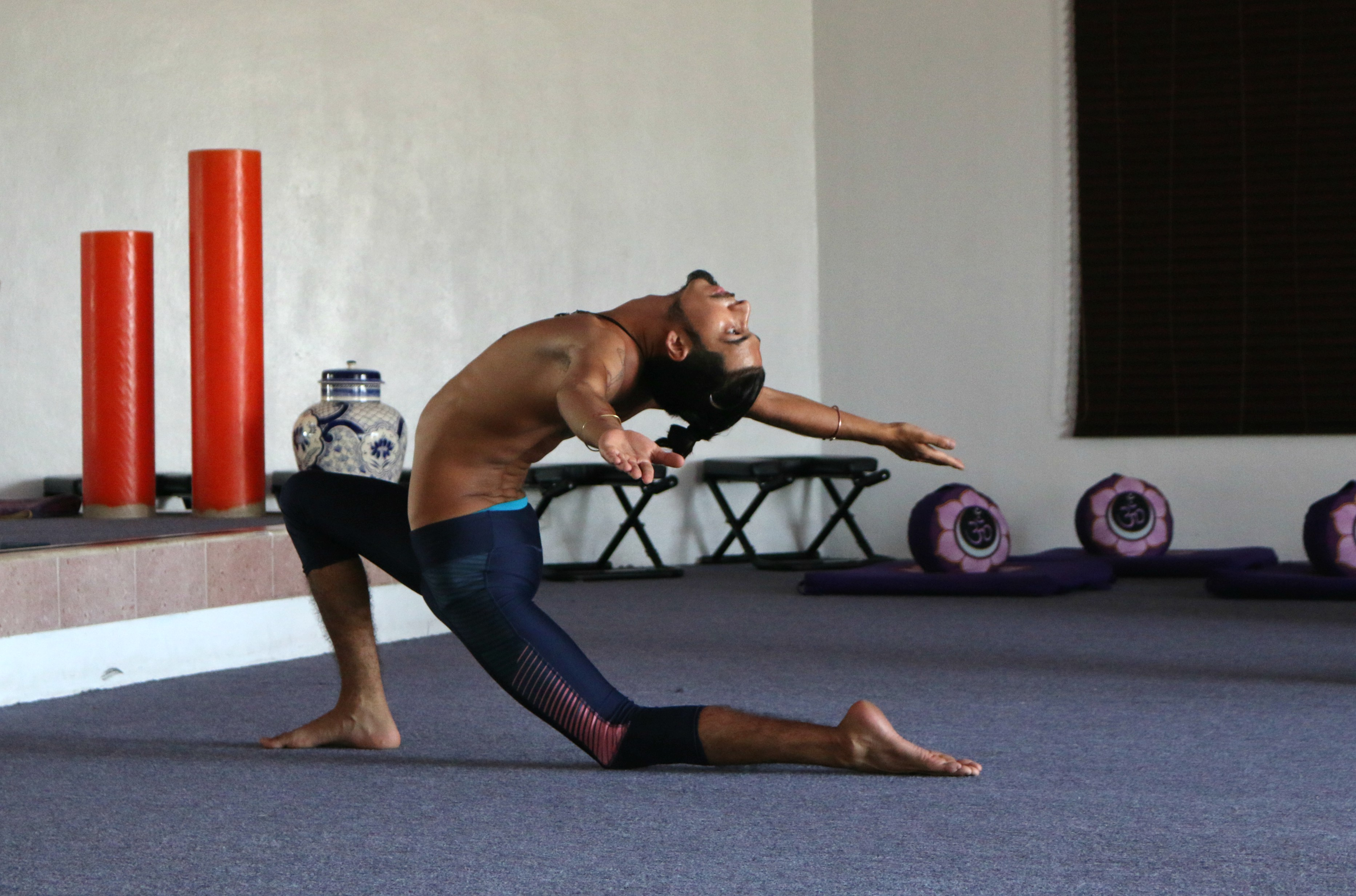 Joshua leading a class in The Yoga Studio at Hard Rock Riviera Maya.