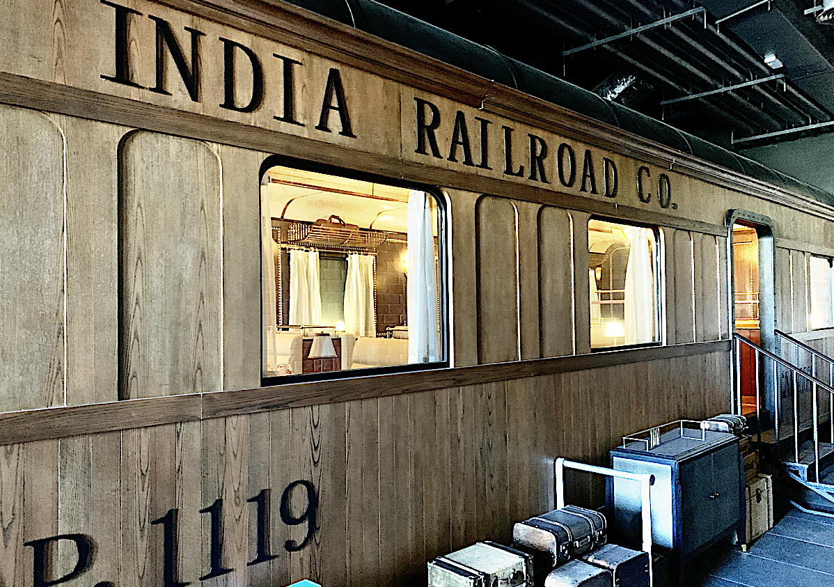 PRIME DINING. Indian restaurant Journeys in the Zilara section features a built-in train car that guests can dine in.