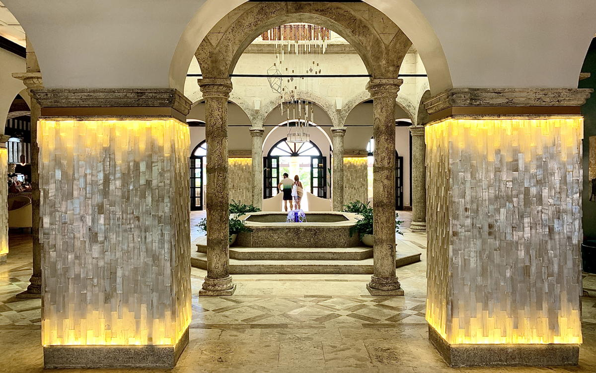 """Healing crystals"" on display in the main lobby at Sanctuary Cap Cana. (Pax Global Media)"