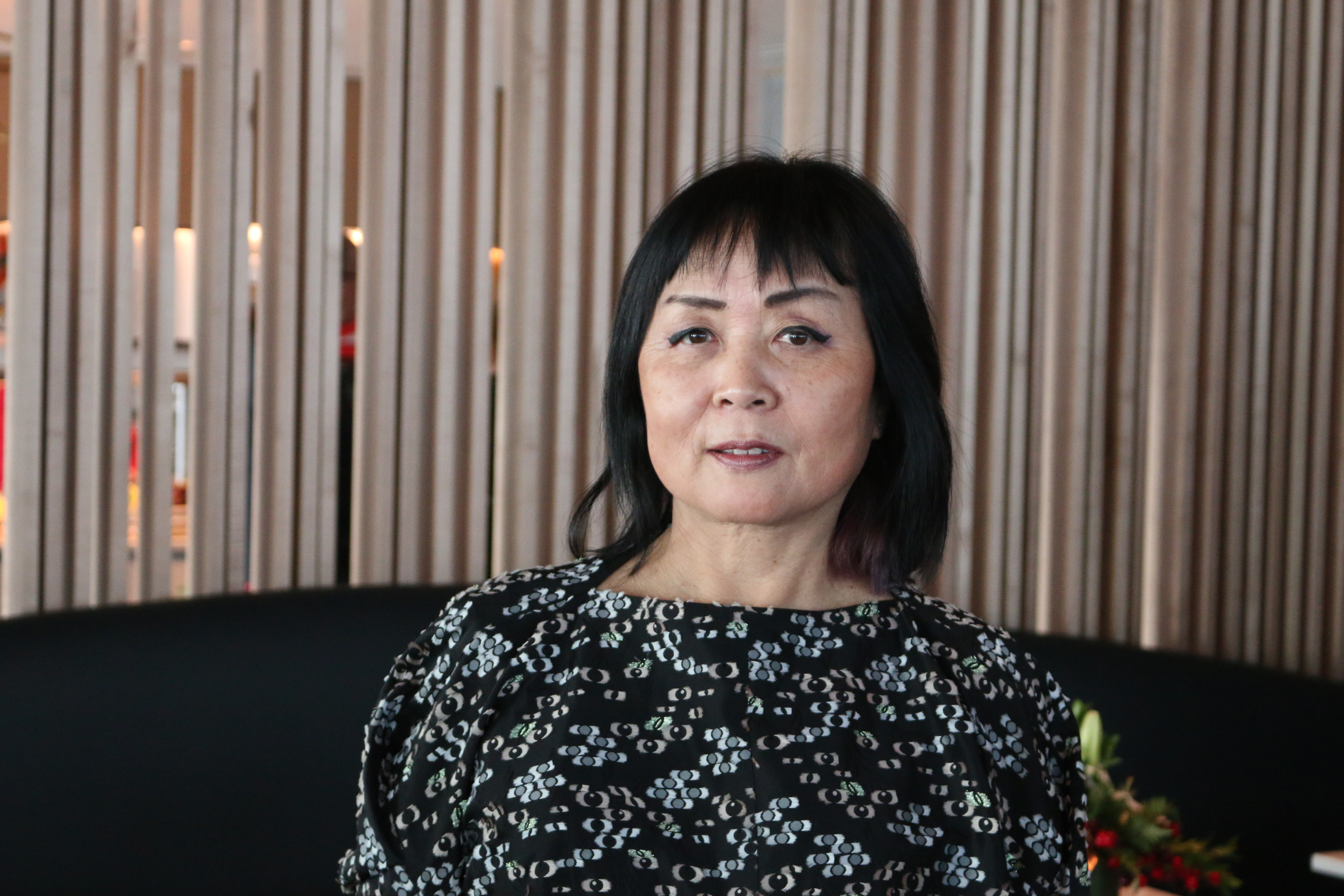 Heekyung Duquette, designer of the Maple Leaf Lounge at St. John's, said she was inspired by the natural beauty of Newfoundland and Labrador.