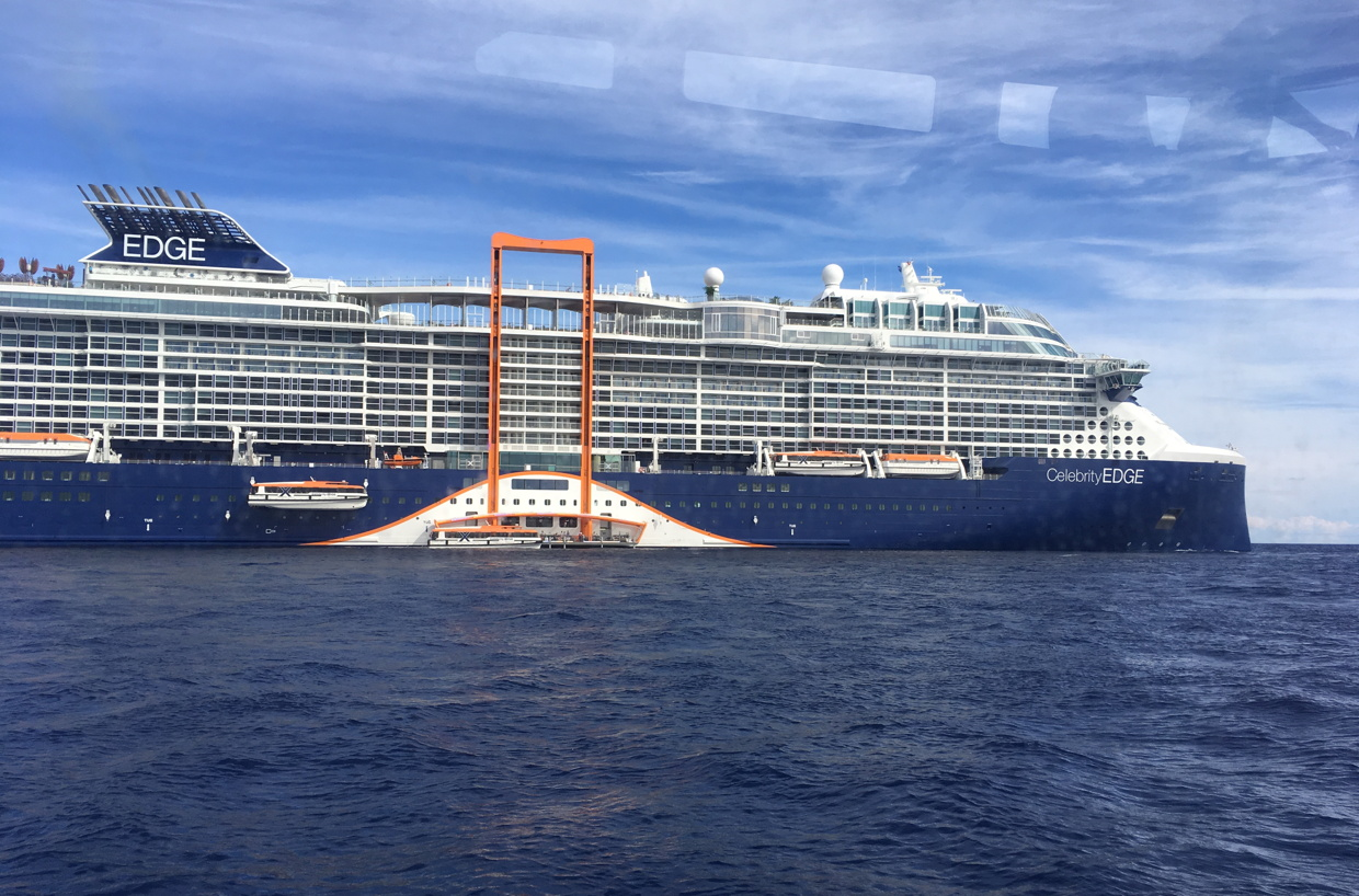 Celebrity Cruises' Canadian team had an opportunity to experience the Celebrity Edge for the first time last week. Photo: Brenda Lynne Yeomans.