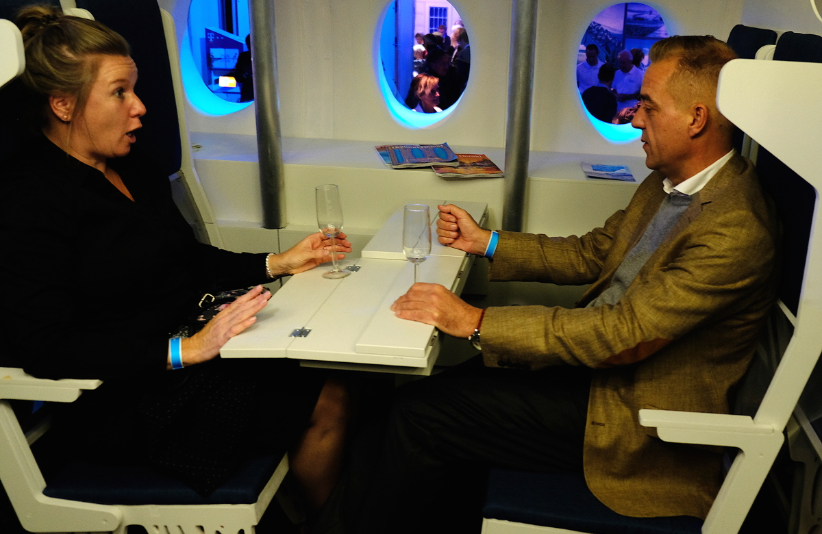 FACE-TO-FACE. One of four seat options in KLM's reimagined cabins currently under proposal.