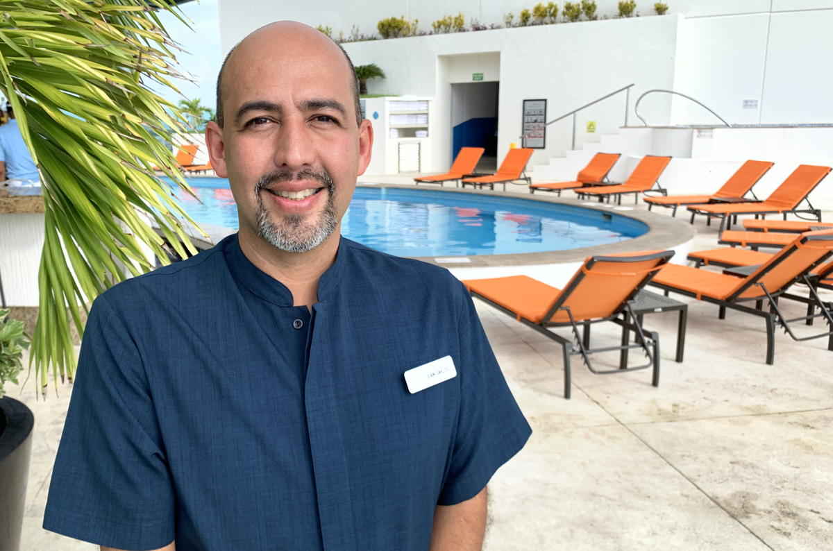 """Location, location, location is one of the best assets we have,"" said Juan Carlos, a director of sales at Palace Resorts."