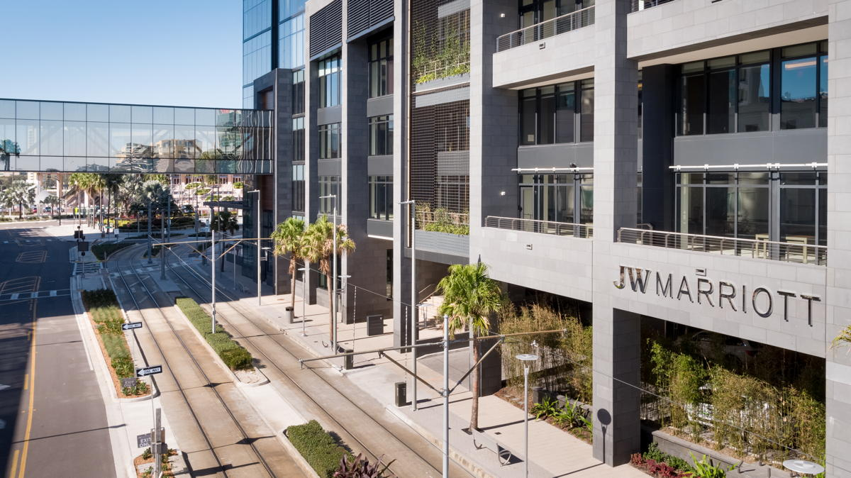 JW Marriott Tampa Water Street is located in Tampa's Water Street neighbourhood. (Supplied)