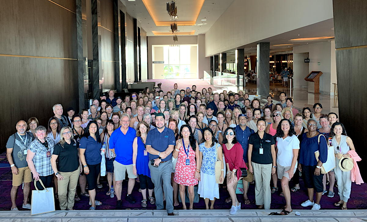 GROUP PIC! Nearly 160 Canadian travel advisors stayed at The Grand at Moon Palace as part of Megafam 2019.