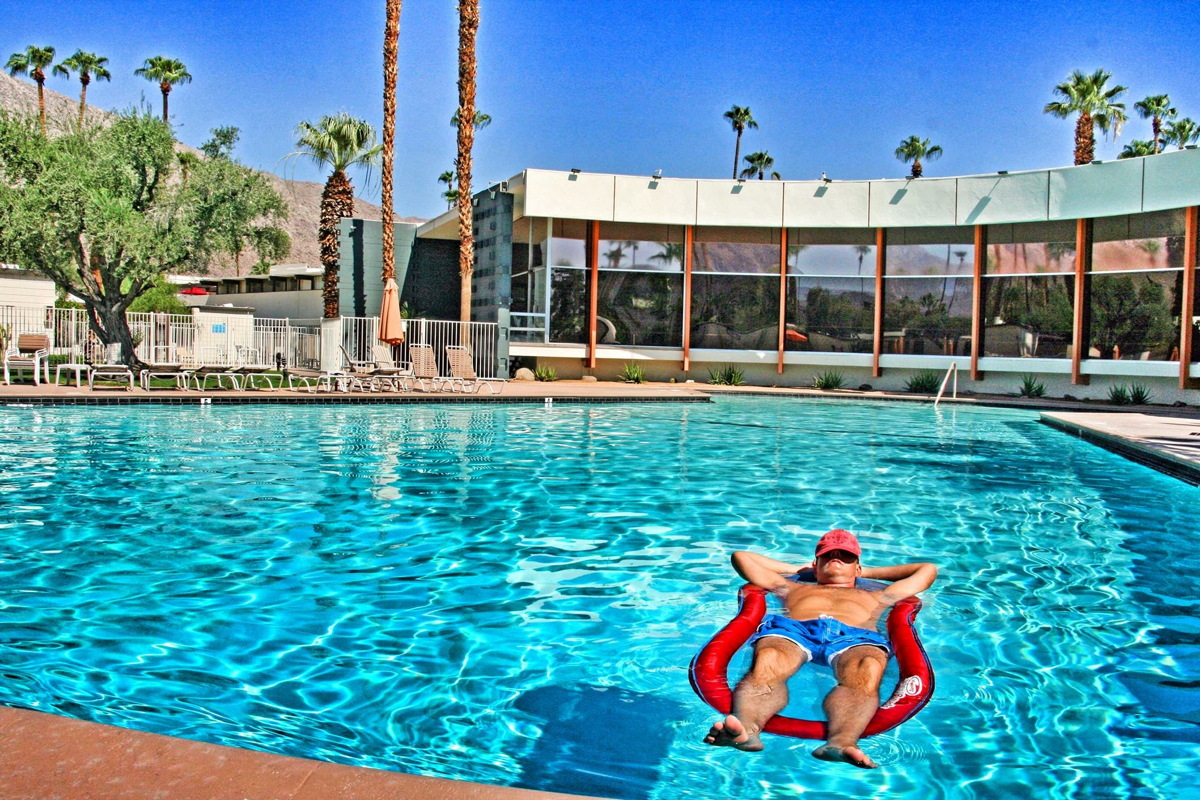 "SUN-KISSED. Marsh calls Palm Springs his ""happy place."" Photo courtesy of Freddie Marsh."