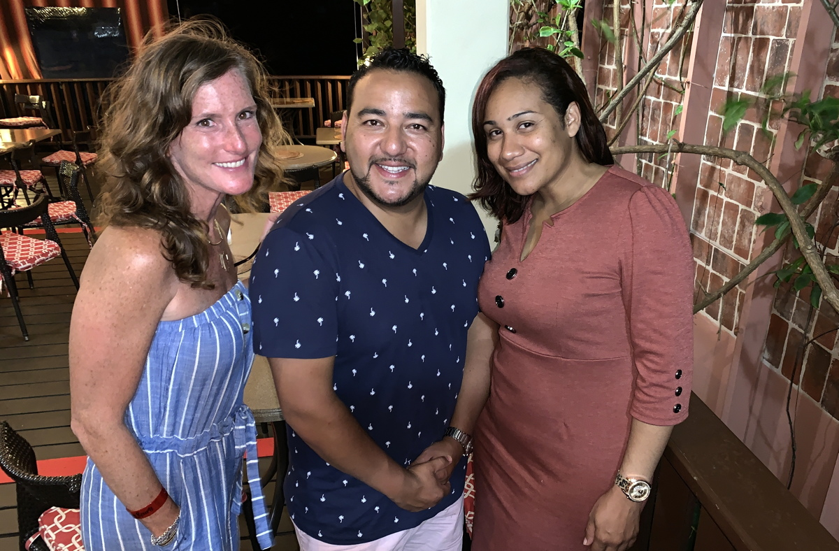 From left: Jennifer Maguire, communications & public relations, JMCPR; Rod Hanna, director of sales - Canada, Saint Lucia Tourism Authority; Geraine Georges, public relations officer, Saint Lucia Tourism Authority.