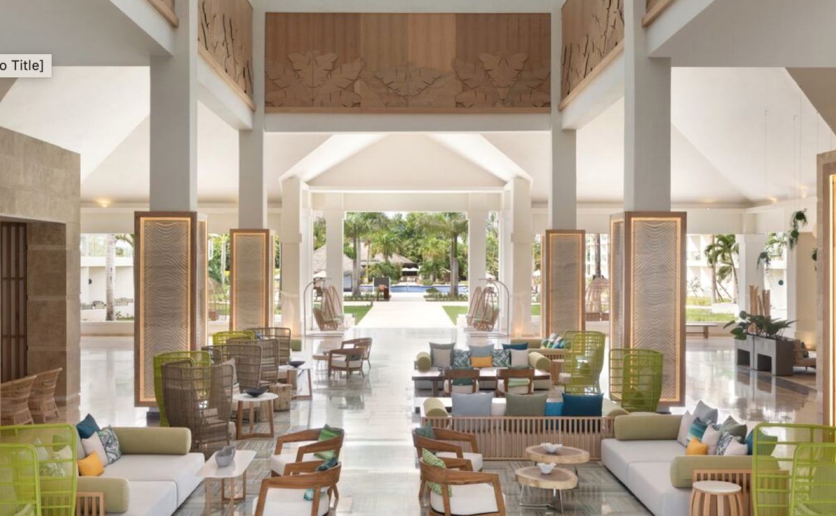 The lobby of the new adults-only Hilton La Romana. (Photo supplied)
