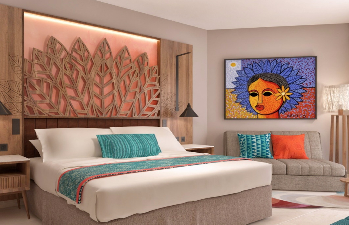 STEP INSIDE. Warm, inviting rooms at the new family-friendly Hilton La Romana. (Photo supplied)