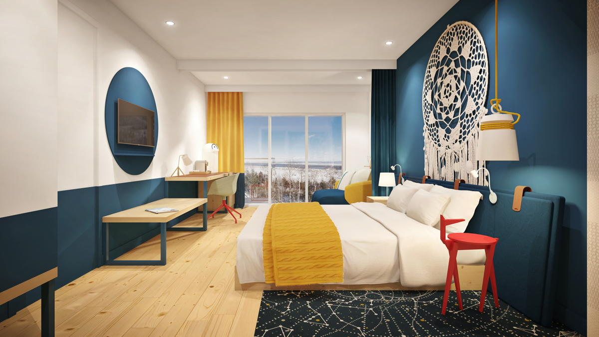 Rendering of a Superior suite at Club Med Quebec Charlevoix. (Club Med)