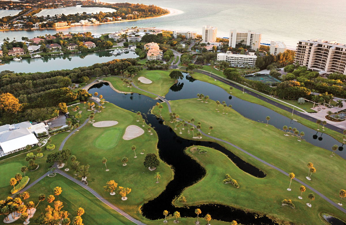 Longboat Key Club sits on a barrier island on the Gulf of Mexico. (Supplied)