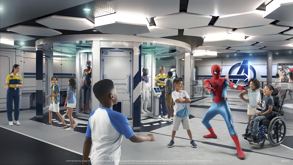 Disney's Oceaneer Club - Marvel Super Hero Academy. (Disney Cruise Line)