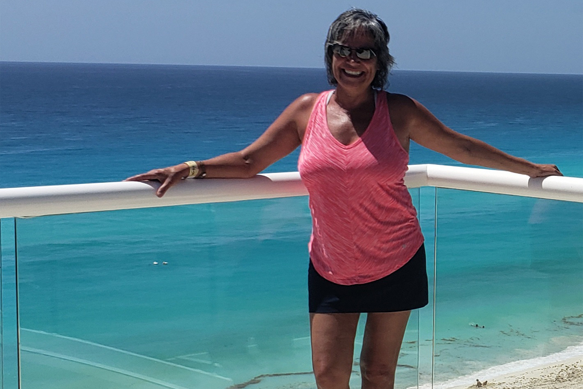 Olga Leonetti, travel consultant, Northstar Travel, pictured here at Hard Rock Cancun, which the group also briefly toured. Photo: Olga Leonetti.