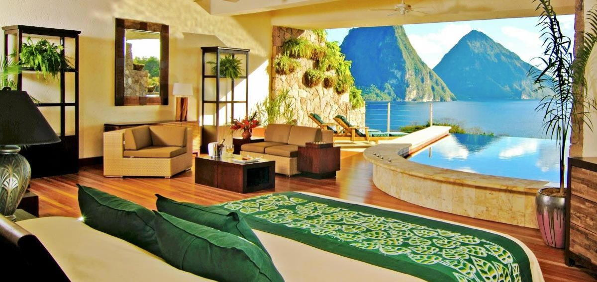 Jade Mountain Hotel – Star Sanctuary Suite – St. Lucia. (Supplied).