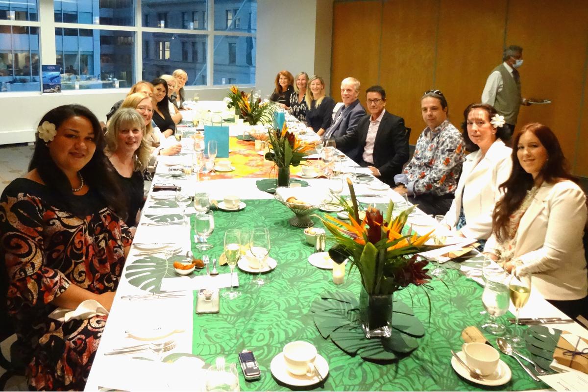 Les spécialistes qui ont participé au souper de Tahiti Tourisme à Montréal.