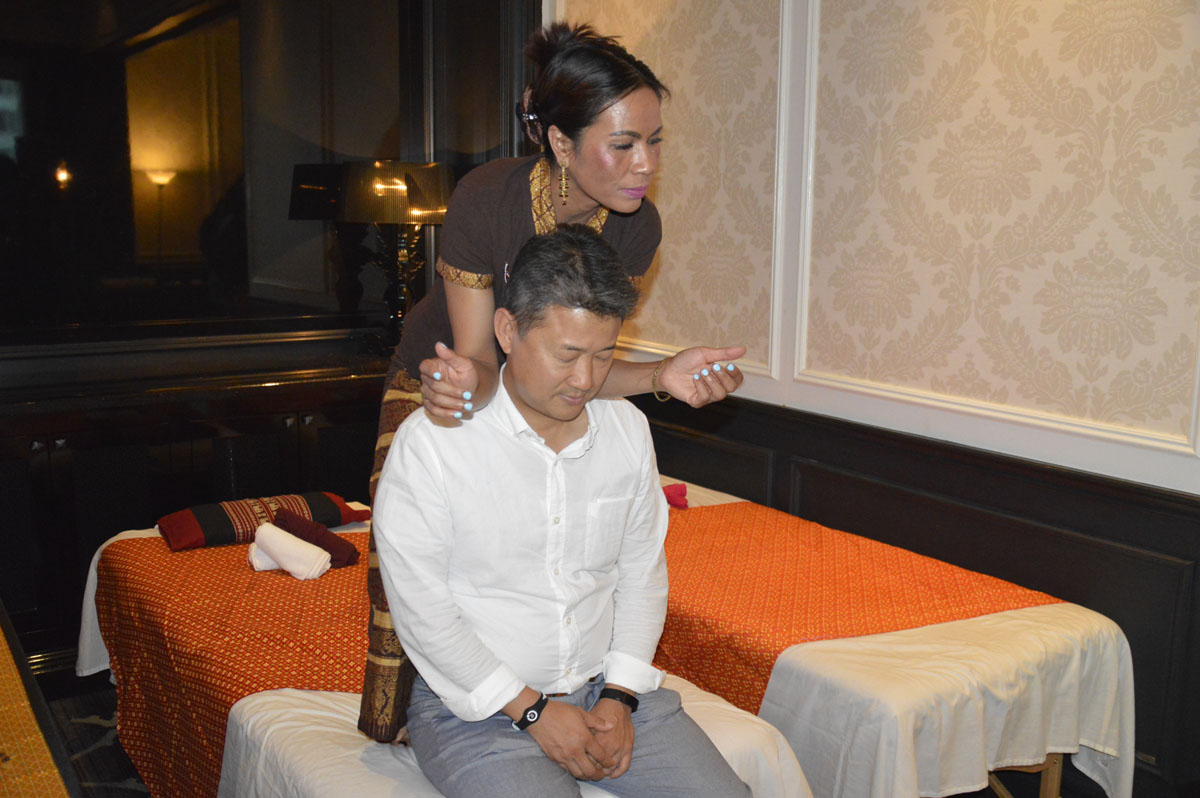 Guests were also treated to a Thai massage, one of the destination's many wellness offerings.