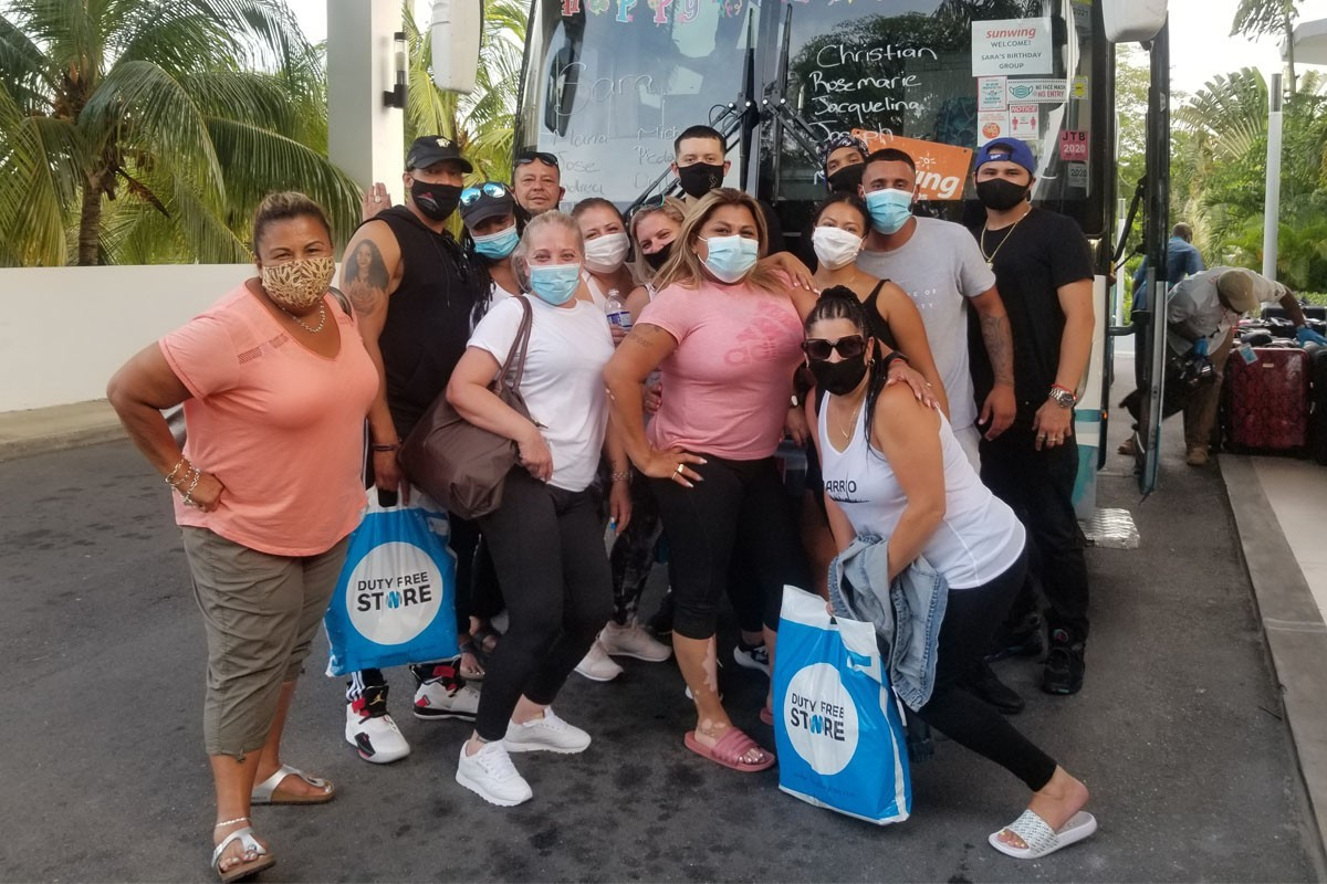 Sunwing welcomed back its first round of guests to Cancun & Montego Bay in August since freezing operations in March. (Supplied)