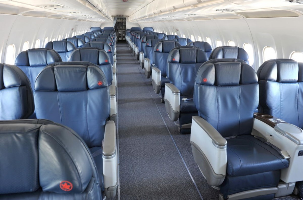Each of Air Canada's four Airbus A319 Jetz aircraft are configured with just 58 North American Business Class seats. (Supplied)