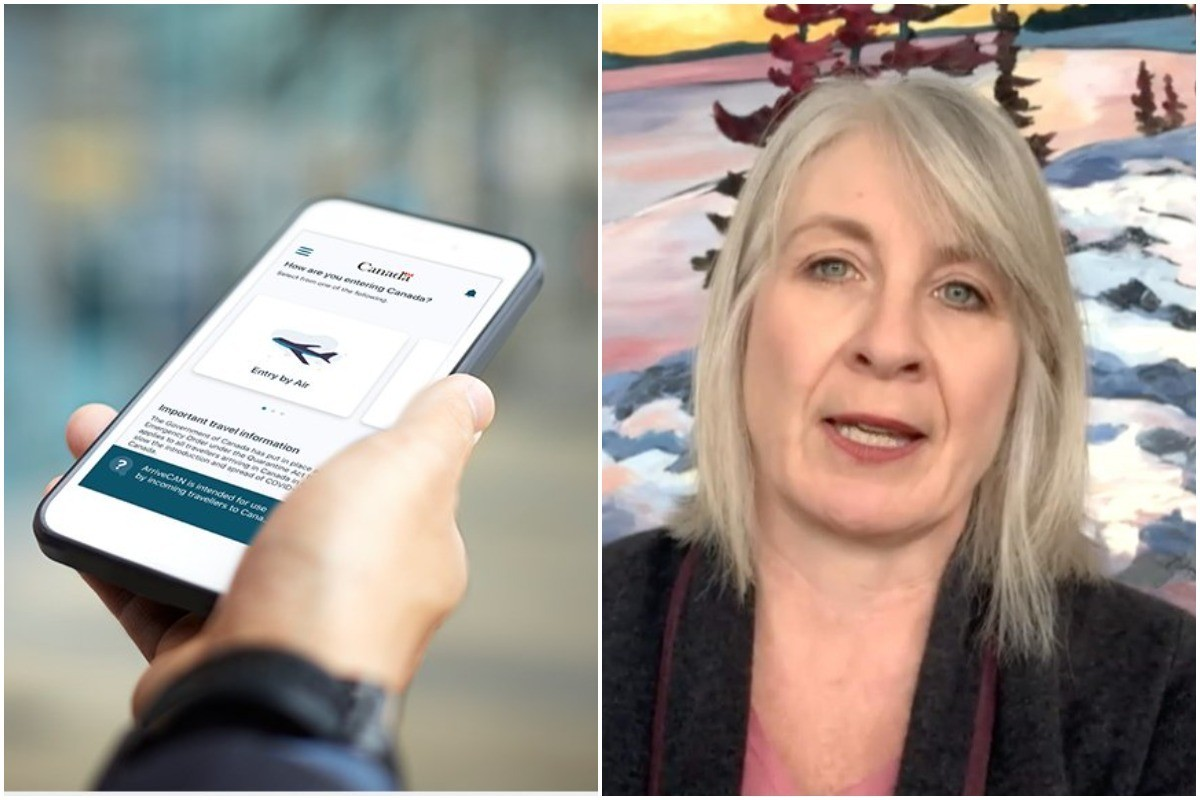 Health Minister Patty Hajdu says a vaccine passport system may be added to the already-built ArriveCAN app. (file photo)