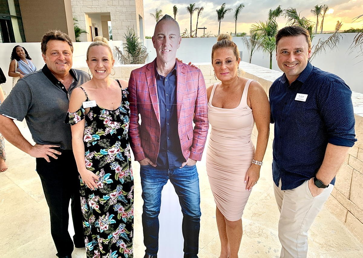 Froemming meets with the Canadian Playa team at the new Hyatt Ziva and Zilara Cap Cana at this year's Spotlight Awards. From left (of Playa Hotels & Resorts): Kevin Froemming, executive vice president & chief commercial officer; Amanda Morris, BDM, Ontario; Freddie Marsh, BDM, Western Canada; Rose Cosentino, VP of sales for Canada; Christian Roussin, BDM, Quebec & Atlantic Canada.
