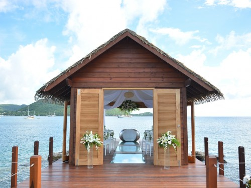 Sandals opens Caribbean's first overwater wedding chapel