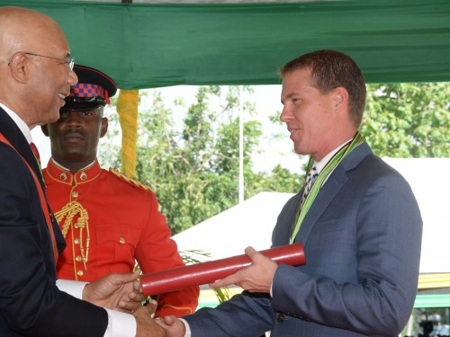 Sandals' Stewart honoured in Jamaica