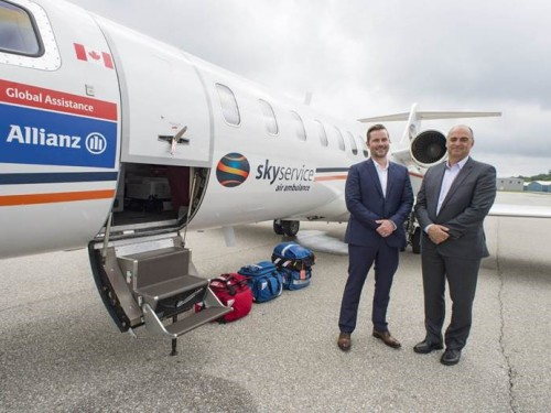 """Allianz takes care of Canadians with """"flying ICU"""""""