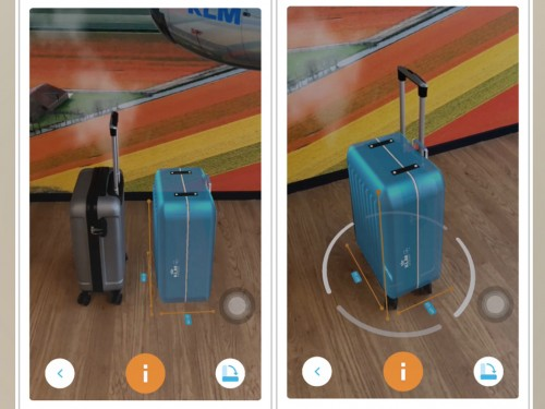 KLM's new virtual suitcase scanner helps passengers pack right