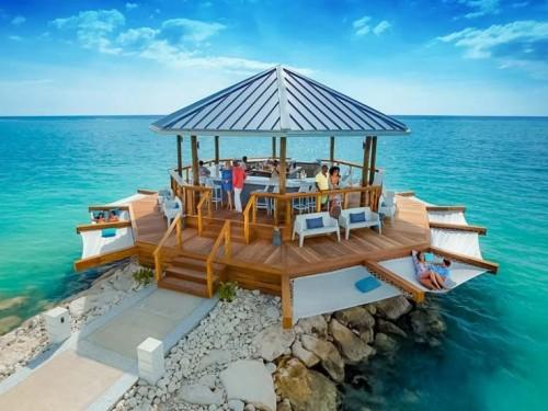 Sandals Montego Bay opens a new overwater bar on stilts