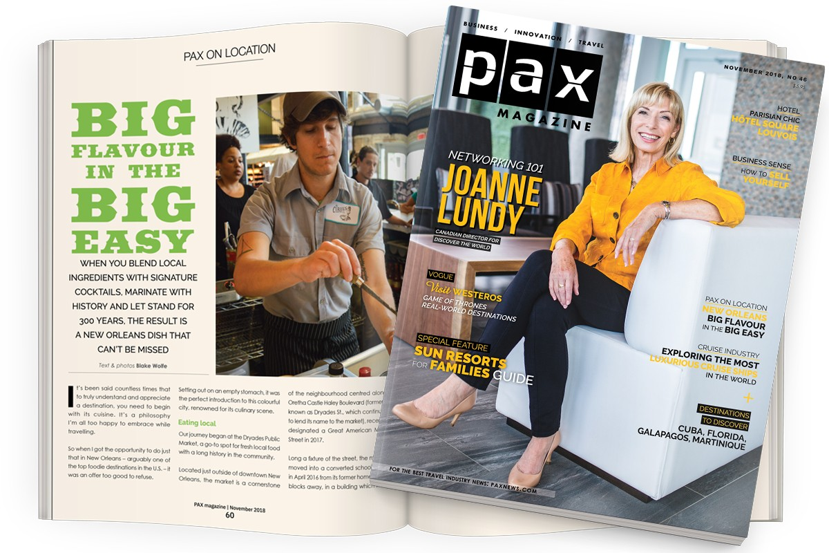 PAX's November issue has something every agent needs to sell more south; A major announcement from PGM: introducing PAX Travel Jobs