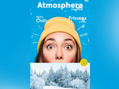 Air Transat's latest issue of Atmosphere has a new look