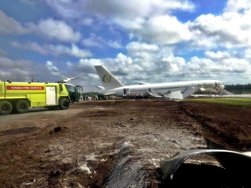 Boeing 757 Flight OJ256 with 82 Canadians on board makes crash landing in Guyana