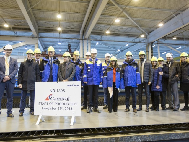 Construction underway on Carnival's newest, largest XL ship