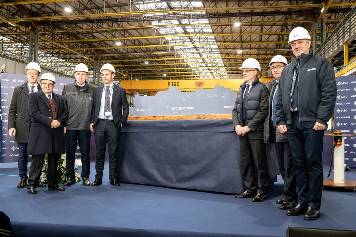First steel cut for MSC Seashore