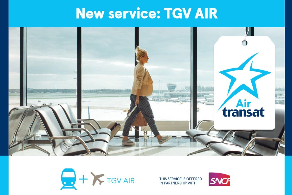 Transat launches new air+rail combo with SNCF