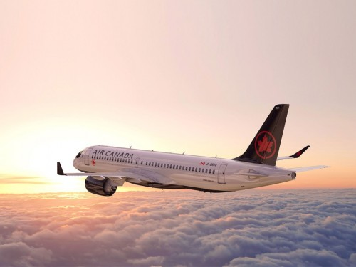 Air Canada's Airbus A220-300 flying non-stop to Seattle & San Jose