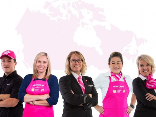 WestJet goes pink in support of breast cancer month