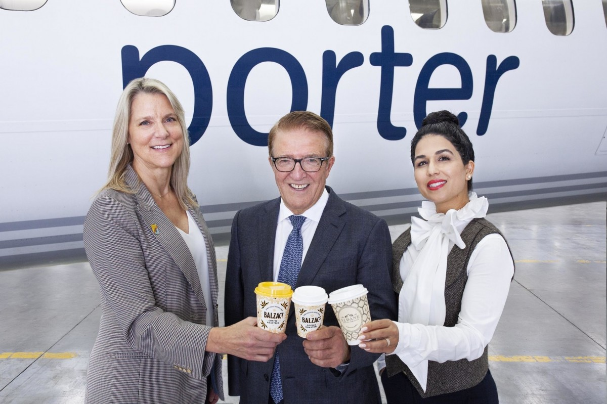 Porter now serving Balzac's coffee & Sloane teas