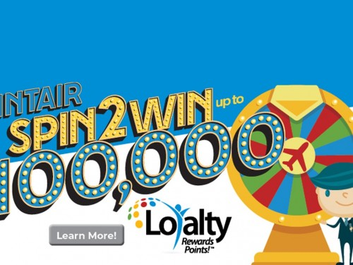 TravelBrands' new Spin to Win game has 100,000 Loyalty points to be won!